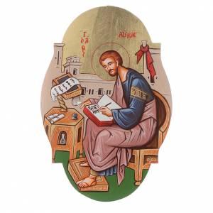 Icona San Luca Evangelista ovale s1