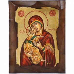 Icona greca Vergine di Vladimir s1