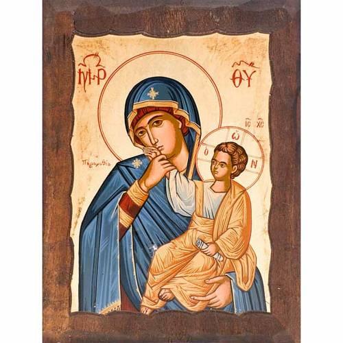 Icona Madre di Dio gioia e sollievo manto blu s1