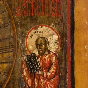 Icona russa antica Trasfigurazione sul Monte Tabor s5