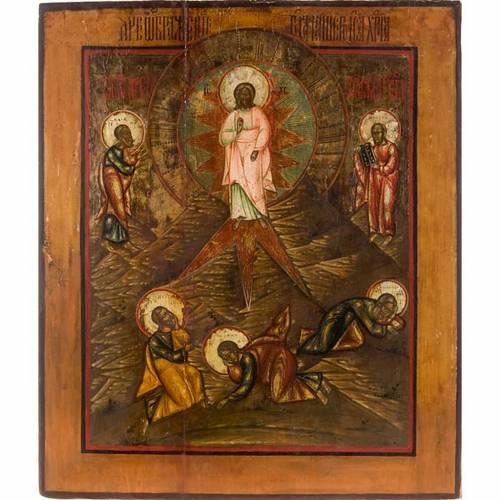 Icona russa antica Trasfigurazione sul Monte Tabor s1