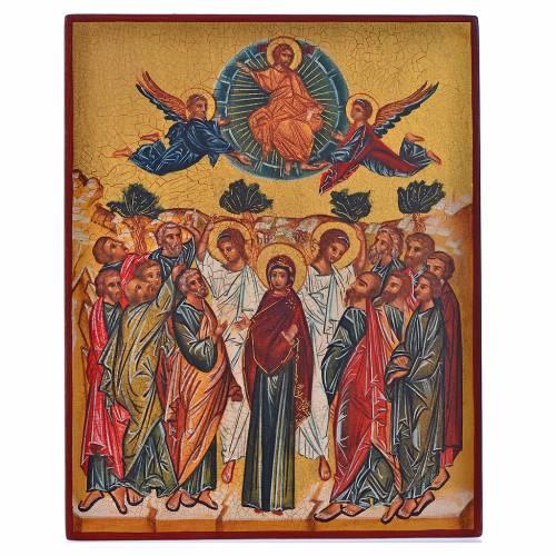 Icona russa dipinta Annunciazione di Maria 14x11 s1