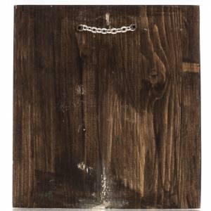 Icona Russa dipinta San Giorgio 20x17 cm s4