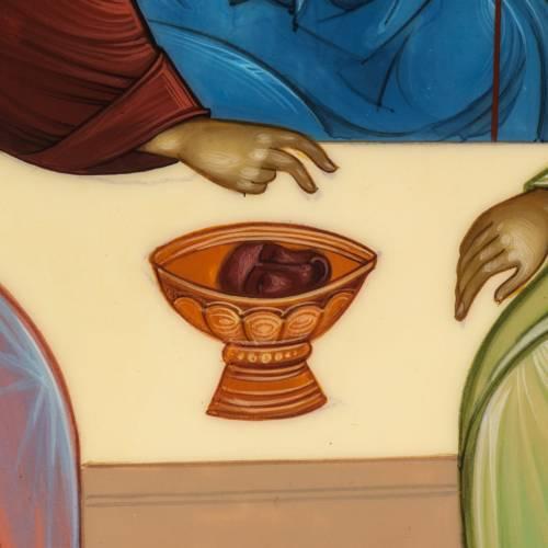 Icona Russia Santissima Trinità di Rublev 31x26 s5