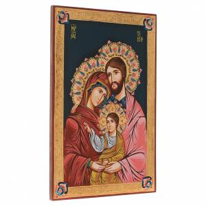 Icona Sacra Famiglia dipinta a mano 40x60 cm s2
