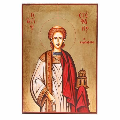 Icona Santo Stefano dipinta Romania s1