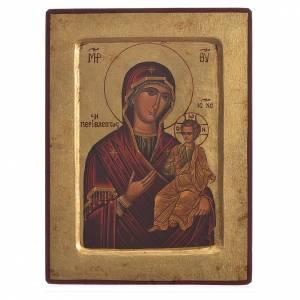 Icona serigrafata Madonna Odigitria scavata s1