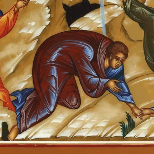 Icona Trasfigurazione di Gesù dipinta a mano Russia 22x27 s2
