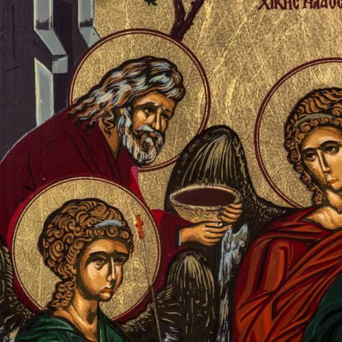 Icona Trinità dell'Antico Testamento serigrafia Grecia 31x24 s3