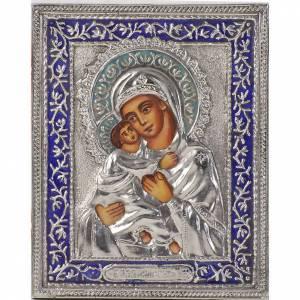 Icona Madre di Dio di Vladimir argento s1
