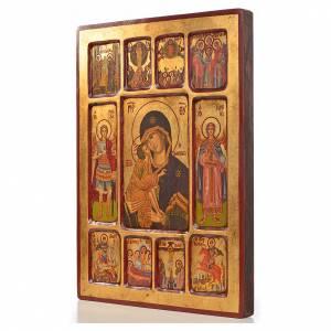 Icone Grecia dipinte e serigrafate: Icona Vladimir riquadri