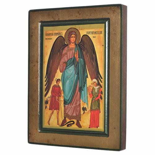 Icône grecque sérigraphiée Saint Raphaël s2
