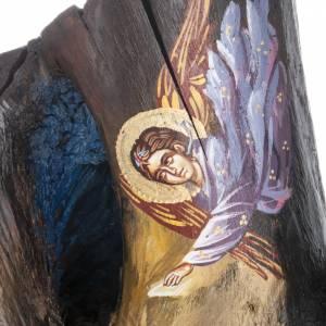 Icône Grecque sur tronc 50x30 cm s5