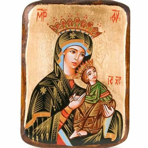 Icône Mère de Dieu de la Passion peinte Roumanie s1