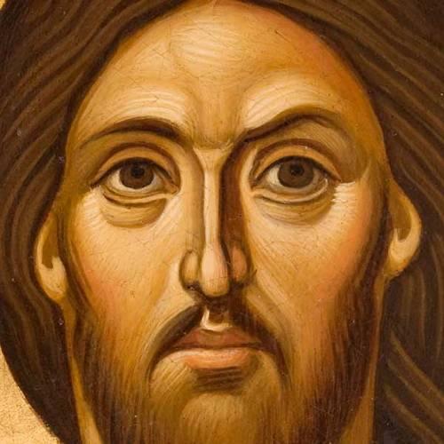 Icône religieuse Pantocrator gros plan Grèce peinte s2