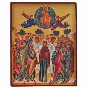 Icônes Russes peintes: Icône russe peinte Annonciation de Marie 14x11 cm