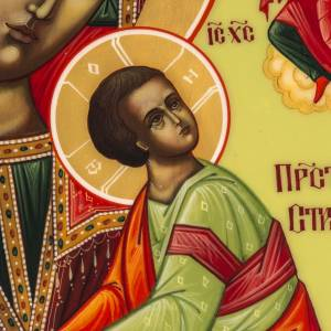 Icône russe Vierge de la Passion 27x22 cm s2
