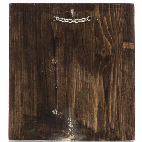 Icône Russie peinte Saint Georges 20x17 cm s4