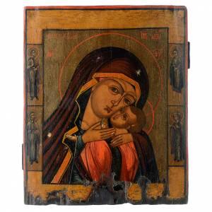 Íconos antiguos: Icono antiguo ruso Virgen de Korsun 35 x 30 cm XIX siglo