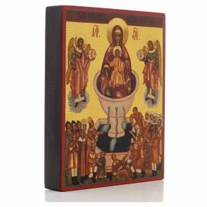 Icono rusa Madre de Dios fuente de vida