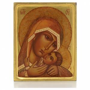 Icono rusa Virgen de Korsun borde alto s1