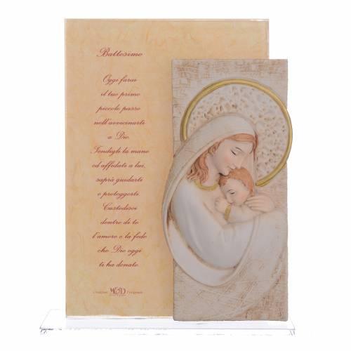 Idea Regalo Battesimo quadretto Maternità h. 17 cm s1