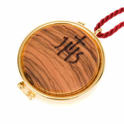 IHS pyx olive wood plaque s1