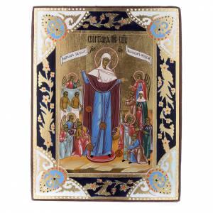 Russische Ikonen auf alter Tafel: Ikone