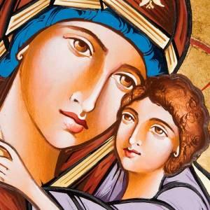 Handgemalte rumänische Ikonen: Ikone Gottesmutter von Kasperov