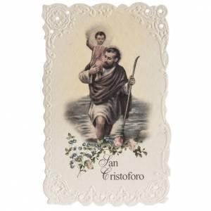 Image pieuse Saint Christophe avec prière s1