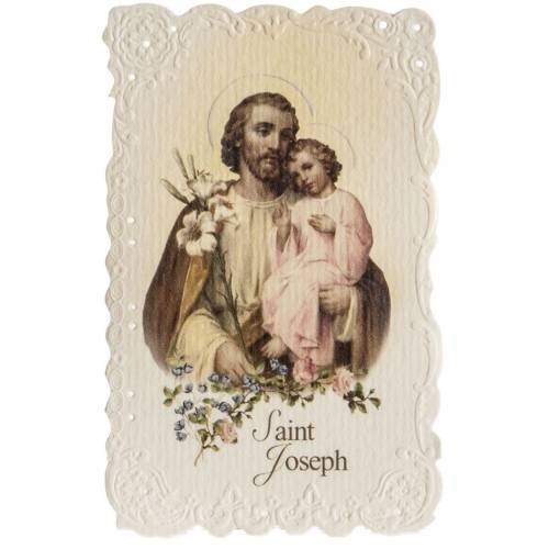 Image pieuse Saint Joseph avec prière ANGLAIS s1