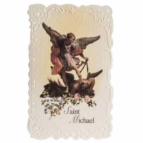 Image pieuse Saint Michael et prière ANGLAIS s1