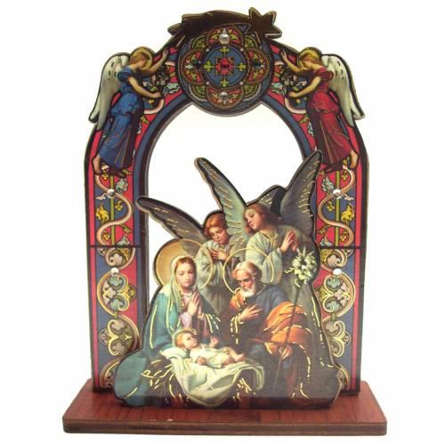 Image Sainte Famille et anges sur base 11cm s1