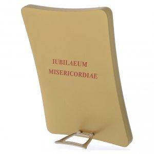 Cuadros, estampas y manuscritos iluminados: STOCK Imagen Logo Jubileo de la Misericordia sobre madera, 12x17 cm
