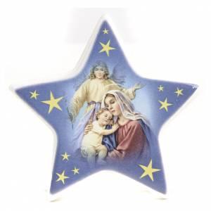 Imanes de los Santos, Virgen y Papa: Imán estrella cerámica Nacimiento