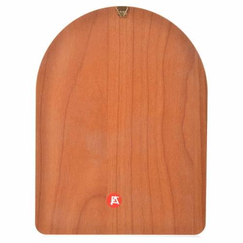 Impression sur bois 15x20 cm Saint Pio s2