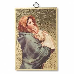 Tableaux, gravures, manuscrit enluminé: Impression sur bois Madonnina de Ferruzzi Ave Maria ITA
