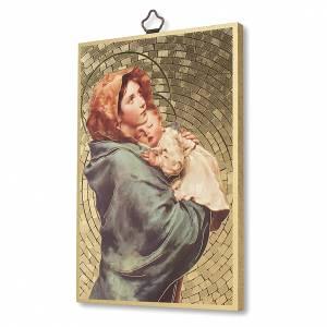 Tableaux, gravures, manuscrit enluminé: Impression sur bois Madonnina de Ferruzzi