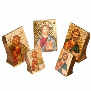 Icons printed on wood and stone: Jesus Christ, Profiled icon