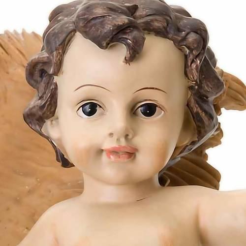 Jésus enfant, résine, berceau s3