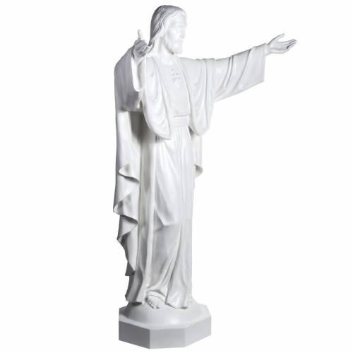 Jésus rédempteur 200 cm fibre de verre s5