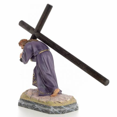 Jesus with cross wooden paste 30cm, fine finish s2