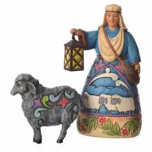 Jim Shore - Mini Nativity Shepherd (berger avec mouton) 10cm s1