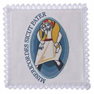 Altargarnitur: STOCK Kelchwäsche Jubilaeum der Barmherzigkeit aus Leinen, angesetzt Logo