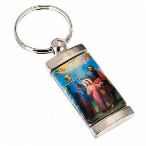 Key Rings: Keychain in metal image of Holy Family