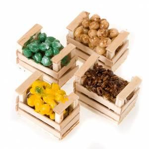 Neapolitanische Krippe: Kiste gemischten Essens Krippe gebrannter Ton