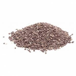 Moos, Stroh und Bäume für Krippe: Kleiner Kies braun für Krippe 300 Gramm