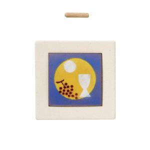 Ikonen, Bildchen, Figuren: Kleines Bild bunt Kommunion Schamotteton