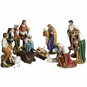 Fiberglas Statuen: Komplettkrippe mit 15 Figuren aus Fiberglas