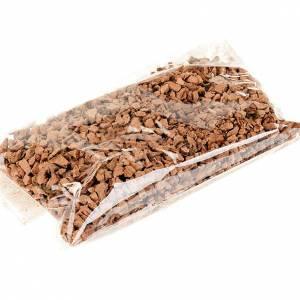 Moos, Stroh und Bäume für Krippe: Kork-Stuecke fuer Basis fuer Krippe 75 gr